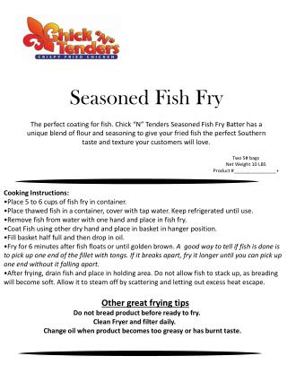 Seasoned Fish Fry
