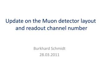 Update on the  Muon  detector layout  and readout channel number