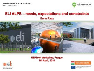 ELI ALPS –  needs ,  expectations  and  constraints Ervin Racz