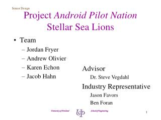 Project  Android Pilot Nation Stellar Sea Lions