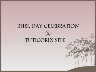 BHEL DAY CELEBRATION @