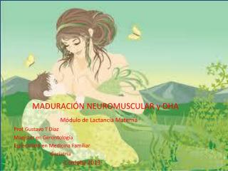 MADURACIÓN NEUROMUSCULAR y DHA Módulo de Lactancia Materna Prof Gustavo T Díaz