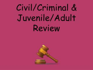 Civil/Criminal & Juvenile/Adult Review