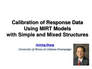 Calibration of Response Data  Using MIRT Models  with Simple and Mixed Structures