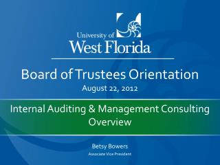 Internal Auditing & Management Consulting Overview
