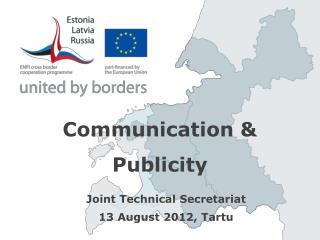 Communication & Publicity