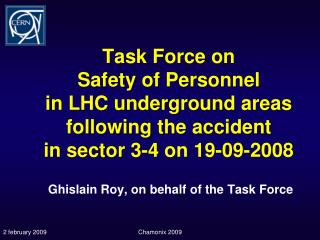 Ghislain Roy, on  behalf  of the  Task  Force