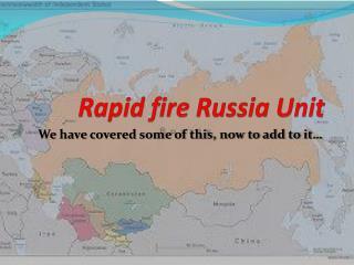 Rapid fire Russia Unit