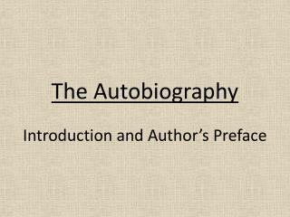 The Autobiography