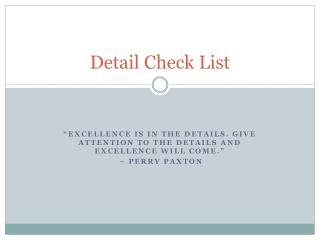 Detail Check List