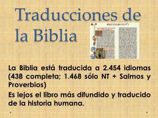 Traducciones de la Biblia