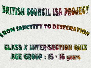 BRITISH COUNCIL ISA PROJECT