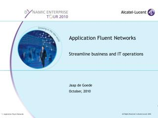 Application Fluent Networks
