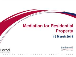 Mediation for Residential Property