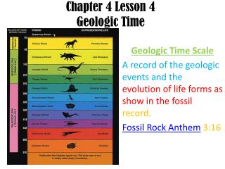Chapter 4 Lesson 4 Geologic Time