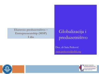 Eksterno preduzetni štvo – Entrepreneurship (MSP) I dio
