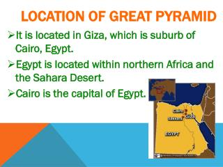 LOCATION OF GREAT PYRAMID