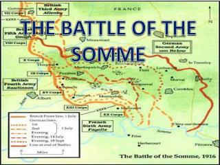 the british took the opportunity at the battle of somme Moreover, behind the british line was, first, amiens, through which passed the great railroad systems from calais, boulogne, and abbeville, binding together the british north of the somme to the french in the south.