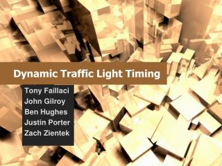 Dynamic Traffic Light Timing