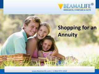 Shopping for an Annuity