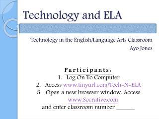 Technology and ELA
