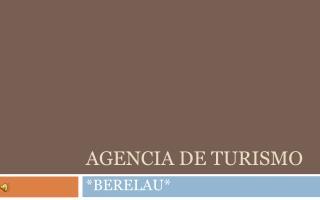 AGENCIA DE TURISMO