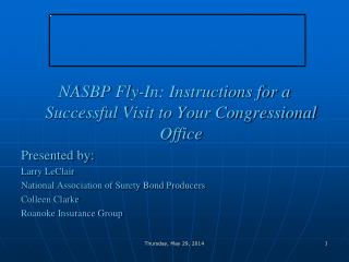 NASBP  Fly-In: Instructions for a Successful Visit to Your Congressional Office Presented by: