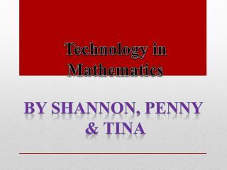 Technology in  Mathematics