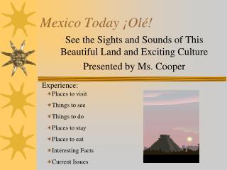 Mexico Today  � Ol �!