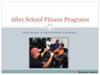 After School Fitness Programs