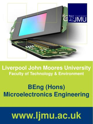 Liverpool John Moores University Faculty of Technology & Environment