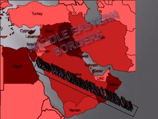 Middle Eastern Borders