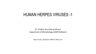 Human Herpesvirus Infections