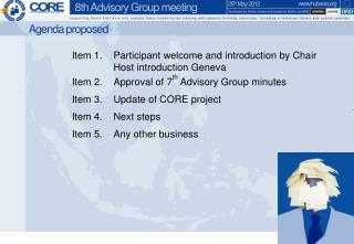 Agenda proposed