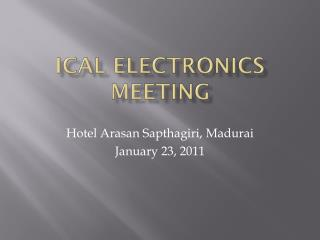 ICAL Electronics meeting
