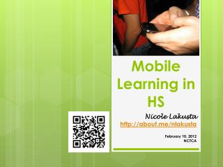 Mobile Learning in HS