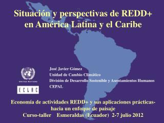 Situación y perspectivas de REDD+ en América Latina y el Caribe