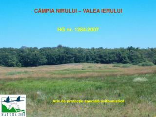 C�MPIA NIRULUI � VALEA IERULUI HG nr. 1284/2007