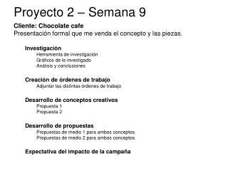 Proyecto 2  –  Semana 9