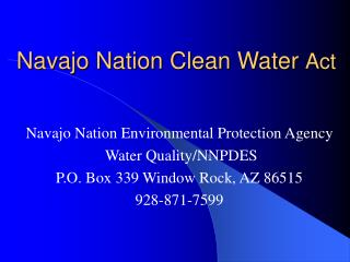 Navajo Nation Clean Water Act
