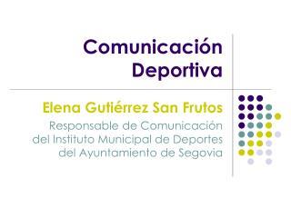 Comunicaci�n Deportiva