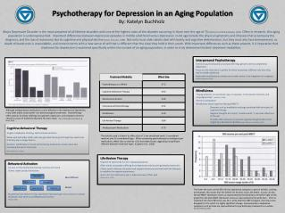 Psychotherapy for Depression in an Aging  Population By: Katelyn Buchholz