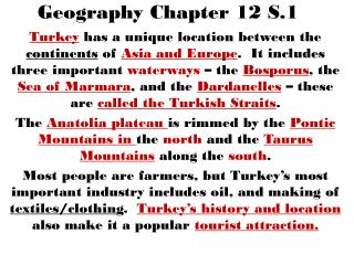 Geography Chapter 12 S.1