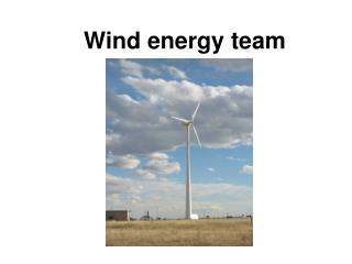Wind energy team