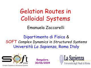 Gelation Routes in  Colloidal Systems