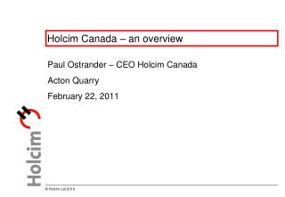 Holcim Canada – an overview