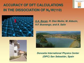 ACCURACY OF DFT CALCULATIONS  IN THE DISSOCIATION OF N 2 /W(110) ‏