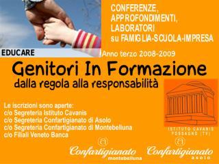 """Sala Convegni """"La Fornace"""" Casella D'Asolo – ore 20.30"""