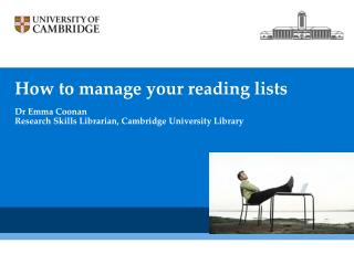 How to  manage your  reading  lists