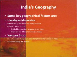 India's Geography